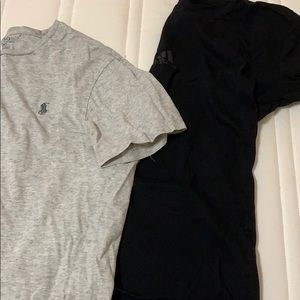 Two T-shirts, one polo and one adidas